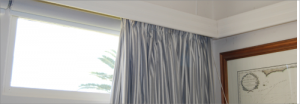 Pelmets and heavy drapes