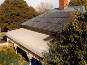 Roof photovoltaic panels